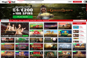 Magic Red Casino Homepage