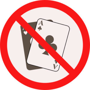 forbidden gambling icon