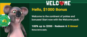 Fair Go Casino $1000 Welcome Bonus