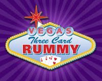 Vegas Three Card Rummy Logo