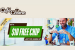 Cafe Casino $10 Free Chip Bonus