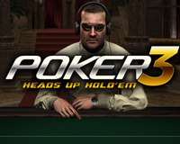 Poker 3 Heads Up Hold'em Logo