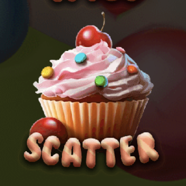 Delicious Candies Pink Cupcake Scatter Symbol