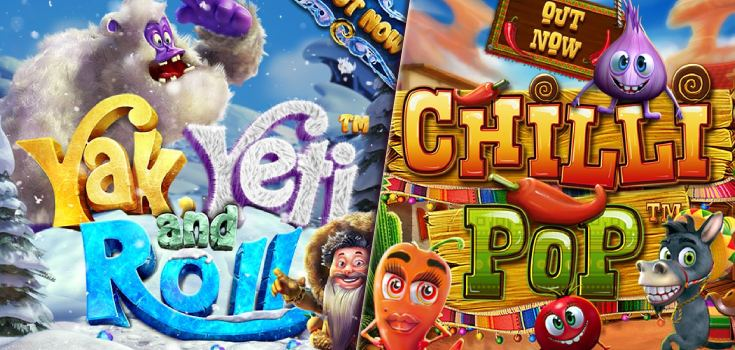 Yak Yet and Roll and Chilli Pop Slot Games