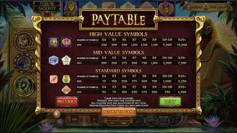 Spiele Legend Of The Nile - Video Slots Online