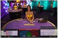 Live Dealer Baccarat Squeeze table layout