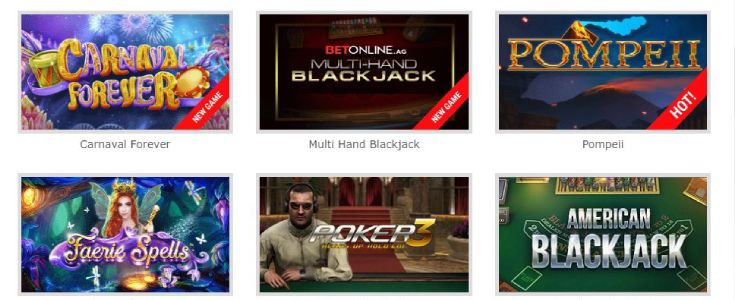 Play BetOnline Online Casino Games