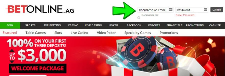 Sign Up at Online Casino