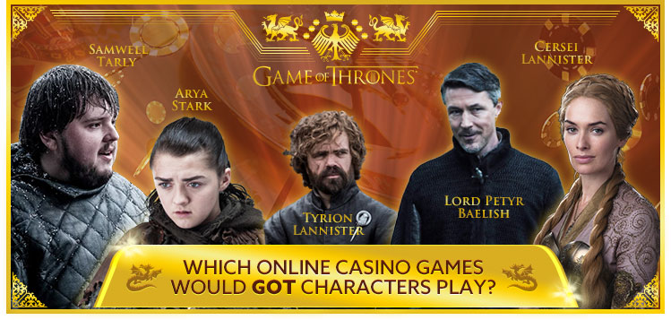 Game of Thrones Characters Play Online Casino Games