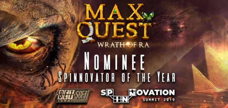 Max Quest Wrath of Ra Spinnovator Award