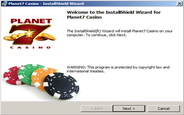 Planet 7 Casino Download Installation