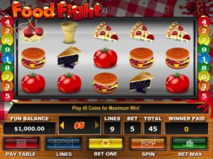 Play Food Fight Slot for Real Money