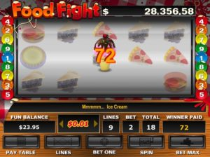 Food Fight Slots Ice Cream Bonus Win