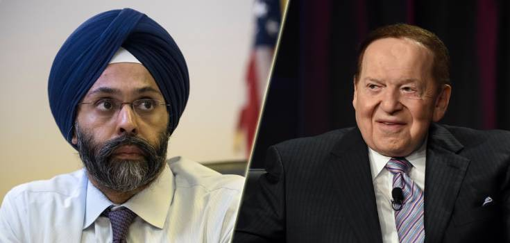 New Jersey Sues DOJ Over Adelson Link to Wire Act