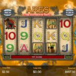 Ares Battle of Troy Online Slot Gameboard