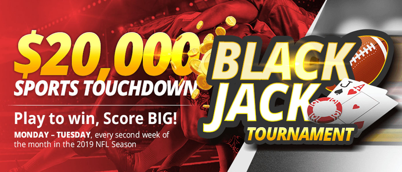 BetOnline Sports Touchdown Blackjack Tournament Detail Banner