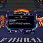 El Luchador Slot Curtain Pick and Free Spins