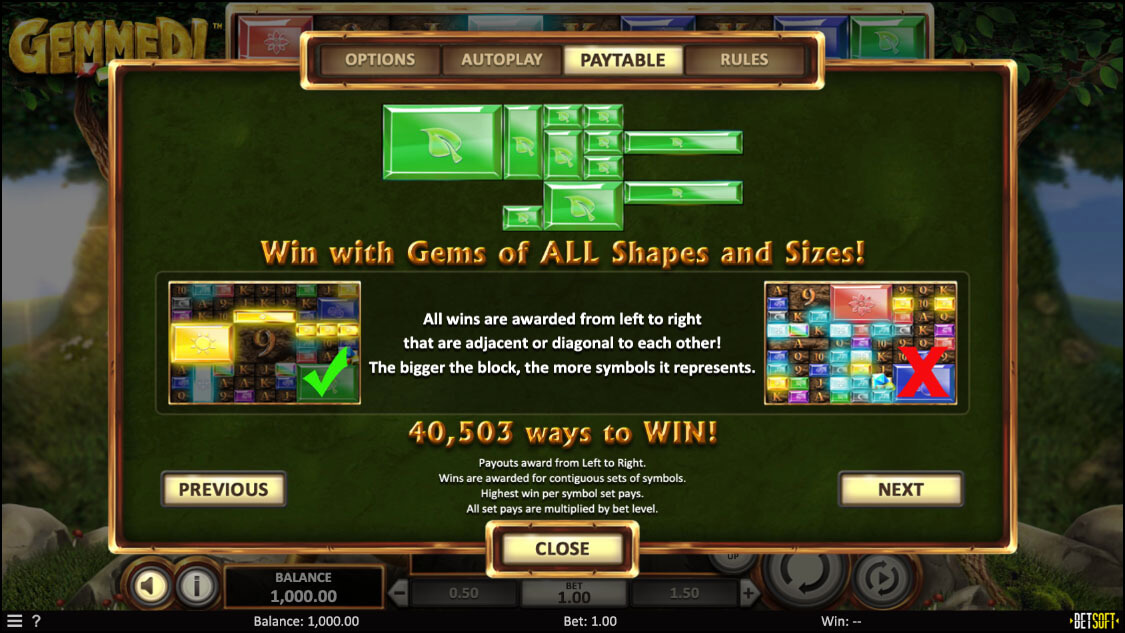 Gemmed! Slot Ways To Win