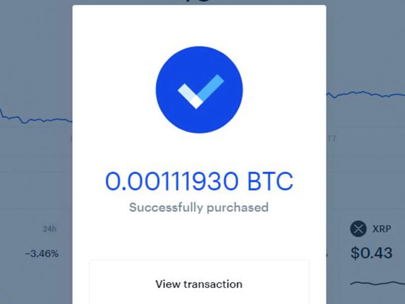How To Get Bitcoin From Coinbase Success