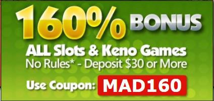 Slot Madness Online Casino Slots and Keno Bonus