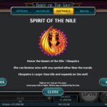 Spirit of the Nile Online Slot Paytable
