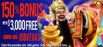 Las Vegas USA Casino Real Money Deposit and Blackjack Bonus Code IDBVEGAS and 150BONUS