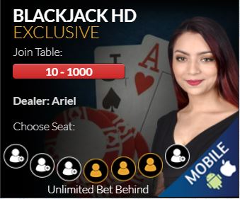 BetOnline Live Blackjack Red Casino