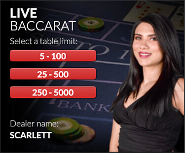 BetOnline Live Casino Red Baccarat