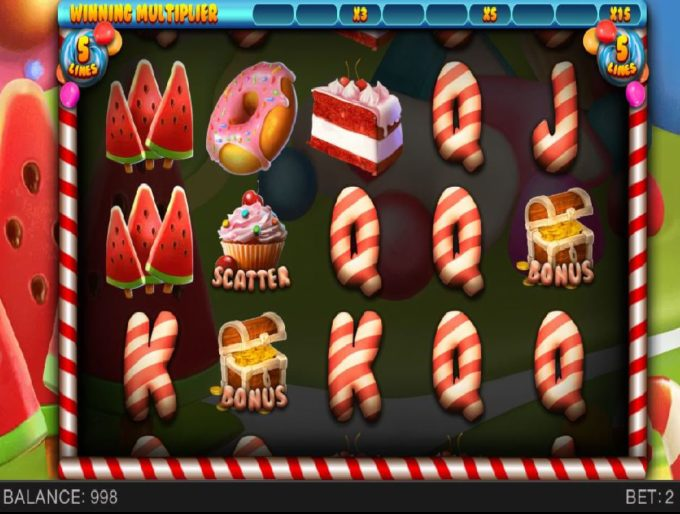 Delicious Candies Online Slot Game Board