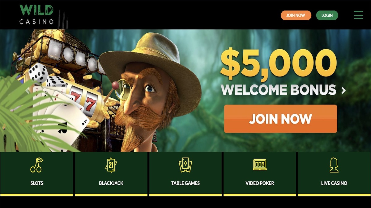 New Wild Casino Home Page