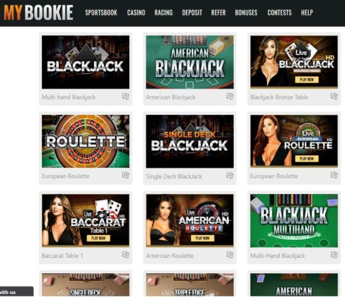 MyBookie Real Money Online Blackjack