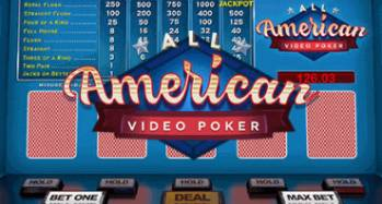 MyBookie Video All American Poker Game