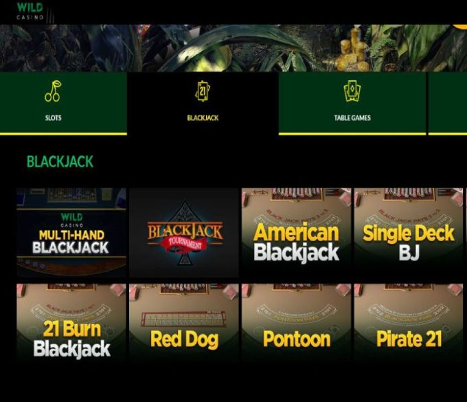 Wild Casino Real Money Online Blackjack