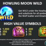 Howling at the Moon Online Slot Wild and Symbols