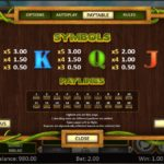 Back to Venus Online Slot Paytable