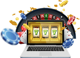 Online Casino Games With Roulette and Slots on a Laptop