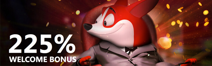 Red Dog Casino Mascot 225% Welcome Bonus