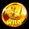 Rhino Mania Real Money Online Slot Wild Symbol