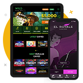 Online Mobile Casinos Wild and El Royale On Tablet and Phone