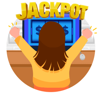 Online Casinos for Real Money Jackpot Winner Icon