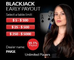Wild Live Casino Red Blackjack Game