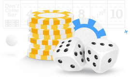 Poker Chips and Dice Icon Win More on Craps Games