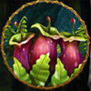 Online Slot Game T-Rex II Mid-Paying Purple Pitcher Plant Symbol