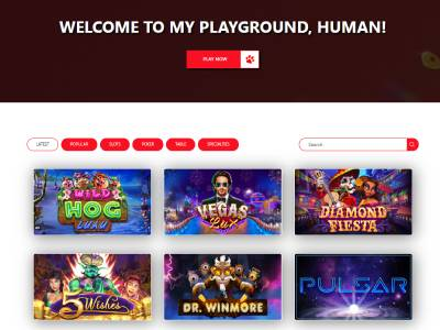 Red Dog Casino Games section