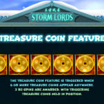 Storm Lords Online Slot Game Treasure Coins Feature Screenshot