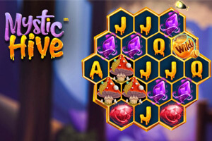 Mystic Hive Online Slot Game Title and Board Screenshot