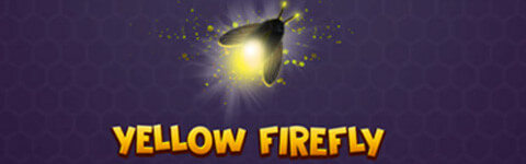 Mystic Hive Real Money Online Slot Game Yellow Firefly Banner
