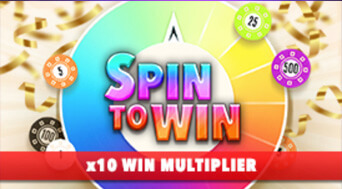 BetOnline Casino Specialty Game Spin to Win