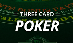 Real Money Online Poker Three Card Poker Game