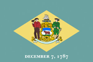 Delaware Gambling Laws State Flag Icon